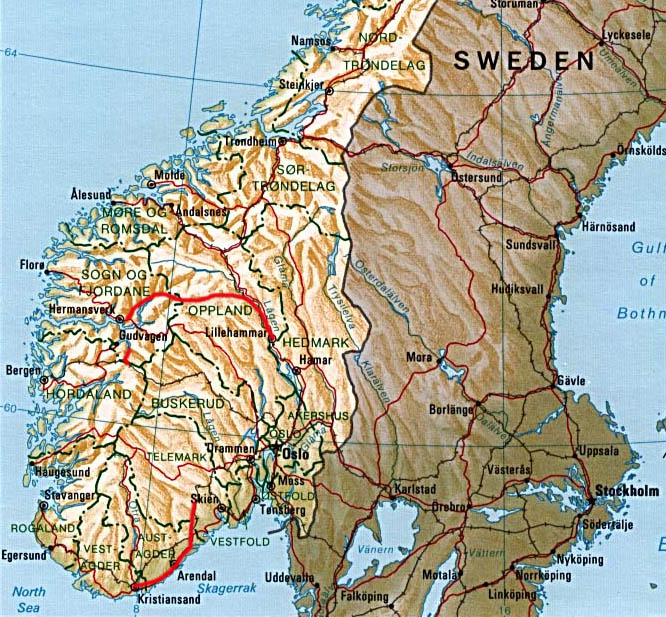 Travel Guide Map Of Norway Cities Pictures - Norway map cities