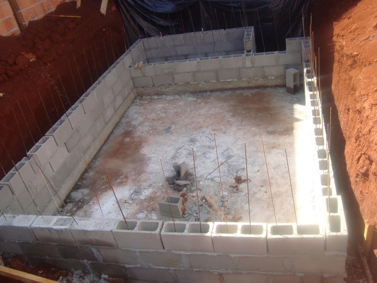 Construindo nosso lar piscina paredes - Piscina da interno ...