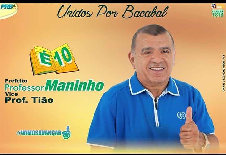 Para prefeito de Bacabal vote 10