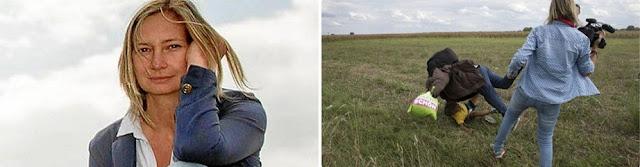 Petra, la reportera húngara cobarde, además de despedida ha sido denunciada