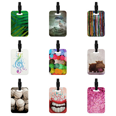 A Search For Kess Inhouse Luggage Tags