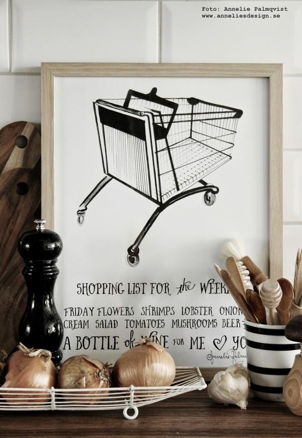konsttryck, tavlor, tavla, poster, posters, svartvitt print, prints, svartvit, svartvita, svart och vitt, kundvagn, text, inredning, webbutik, webbutiker, webshop, detaljer, kök, köket,