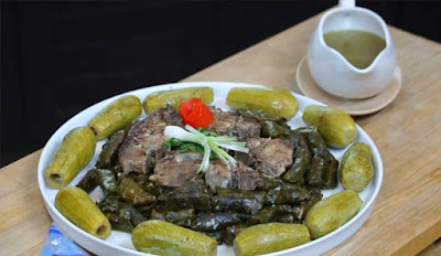 Yabraq/Dolma (Stuffed Vine Leaves)