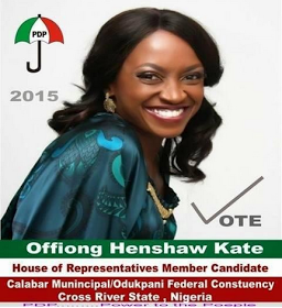 Kate Henshaw's campaign poster