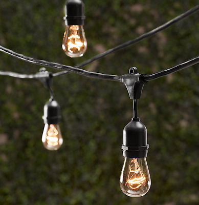 RESTORATION HARDWARE VINTAGE LIGHT STRING
