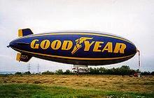 Современный мягкий дирижабль компании «Goodyear», используемый для рекламы и в качестве стабильной наблюдательной платформы
