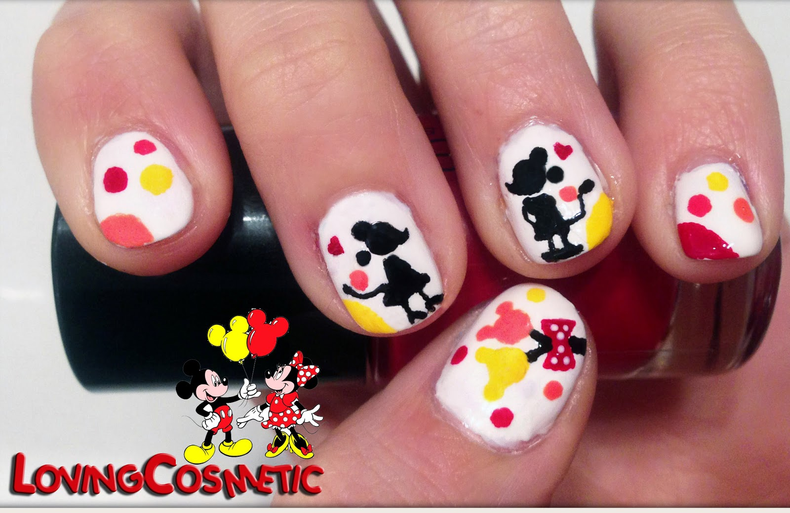 Nail Art - Mickey & Minnie. Love ~ LovingCosmetic