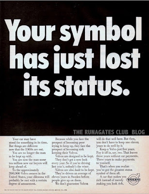Classic VOLVO ad - Your symbol has just lost its status