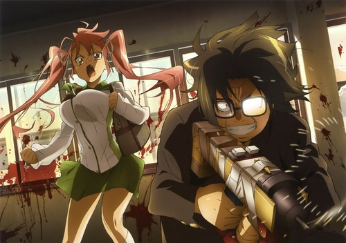 Note To Download You Must Register First At Tokyoinsider Net Register For Free High School Of The Dead Ep