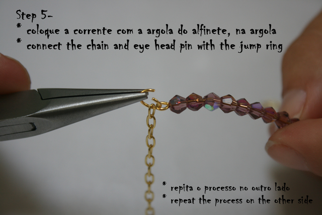 DIY Delicate Bracelet - connecting the chain and the eye head pin