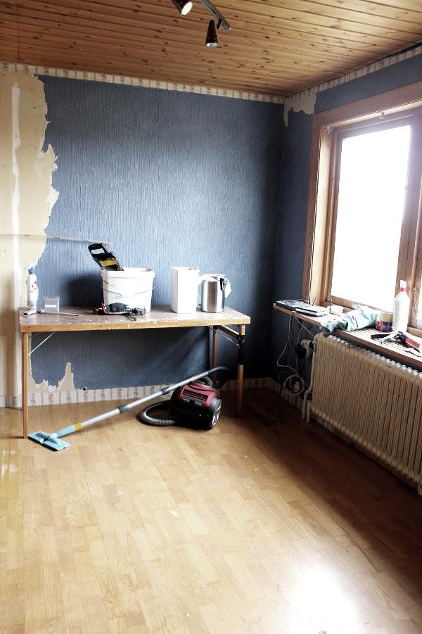 före och efter renovering, nytt arbetsrum, bild på hur arbetsrummet såg ut före renovering, renovera arebtsrum,