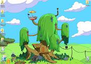 Adventure time wallpaper! yeah!) 2. Create a standard start menu set up.