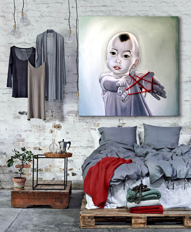 Sensaciones de hogar cuadros y decoracion estilo industrial - Cuadros modernos para dormitorios ...