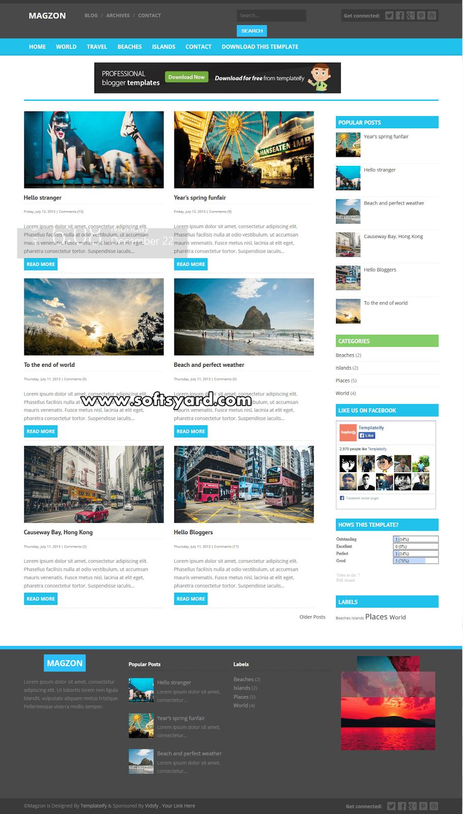 Magzon Premium Blogger Template free download