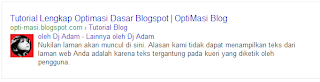 Tutorial Lengkap Optimasi Dasar Blog