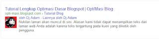 Tutorial Lengkap Optimasi Dasar Blog