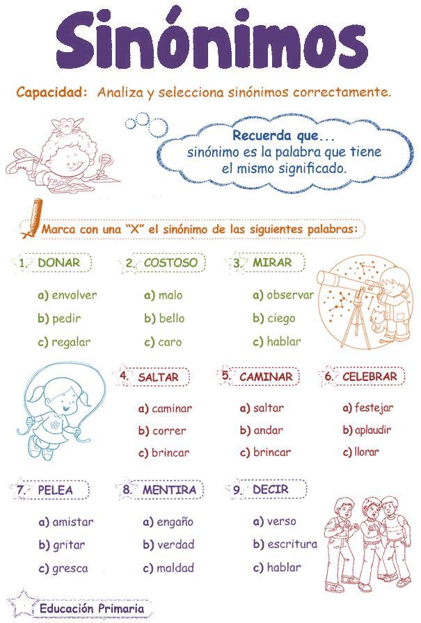 http://razonamiento-verbal1.blogspot.com/2013/03/sinonimos-para-ninos.html