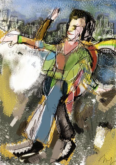 Greenery e Lithographic Chalk Brushes de Zabadal por Americo Gobbo, Gimp, 2012.