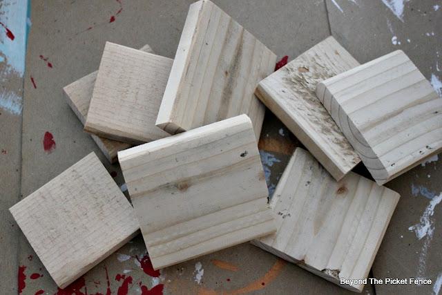 pallet wood, scraps, story blocks, Jesus, DIY, http://bec4-beyondthepicketfence.blogspot.com/2015/11/12-days-of-christmas-day-3-christmas.html