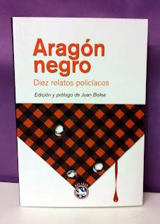 Portada del libro Aragón negro, diez relatos policiales