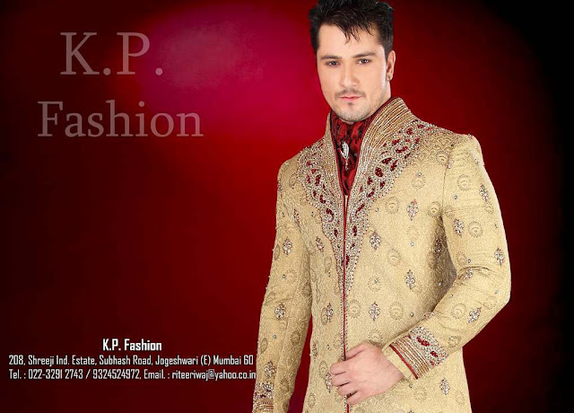 wedding and engagement wear designers embroidered ethnic sherwani for indian and pakistani men 2012 2013