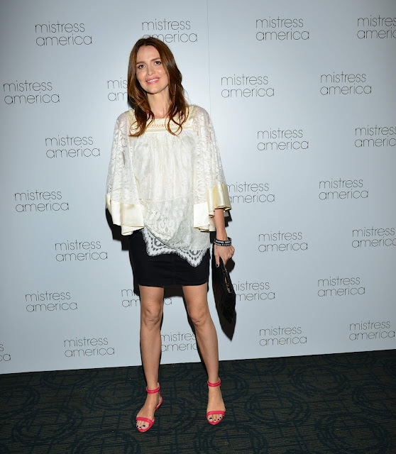 Actress, Fashion Model @ Saffron Burrows New York premiere of 'Mistress America'
