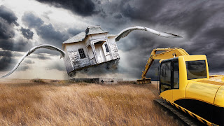 House Fly Bulldozer Camp Funny HD Wallpaper