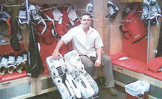 ian sands hockey goalie locker room RBC