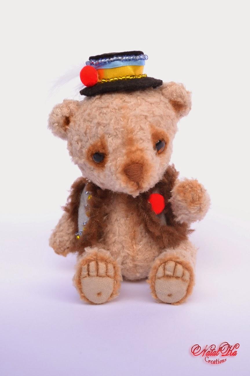 Авторский медведь медвежонок мишка тедди от NatalKa Creations. Artist teddy bear ooak handmade by NatalKa Creations