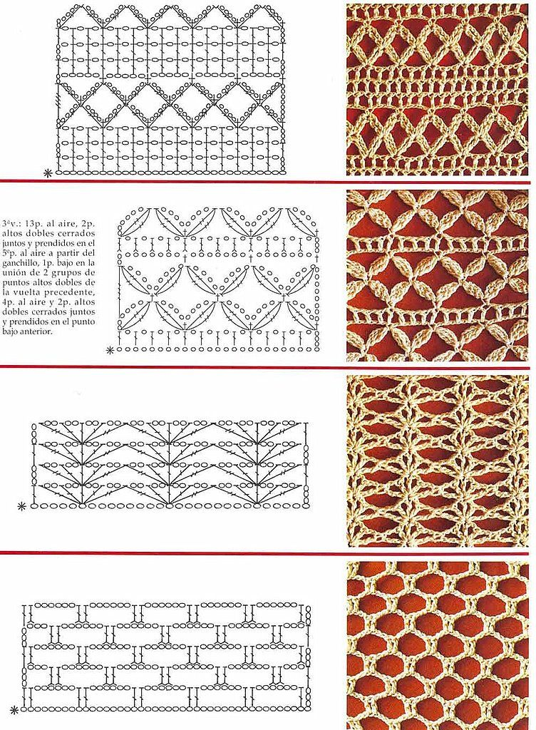 Crochet Stitches On Pinterest : SOLO PUNTOS: Crochet puntos calados