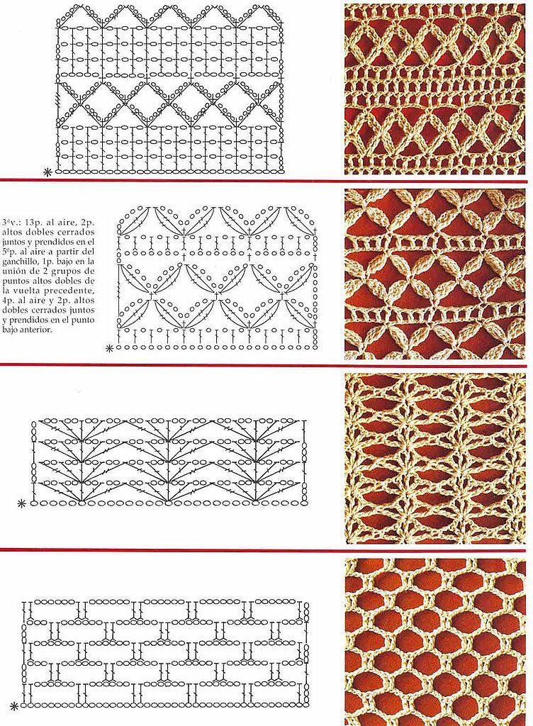 Crochet Stitches Diagrams Pinterest : SOLO PUNTOS: Crochet puntos calados