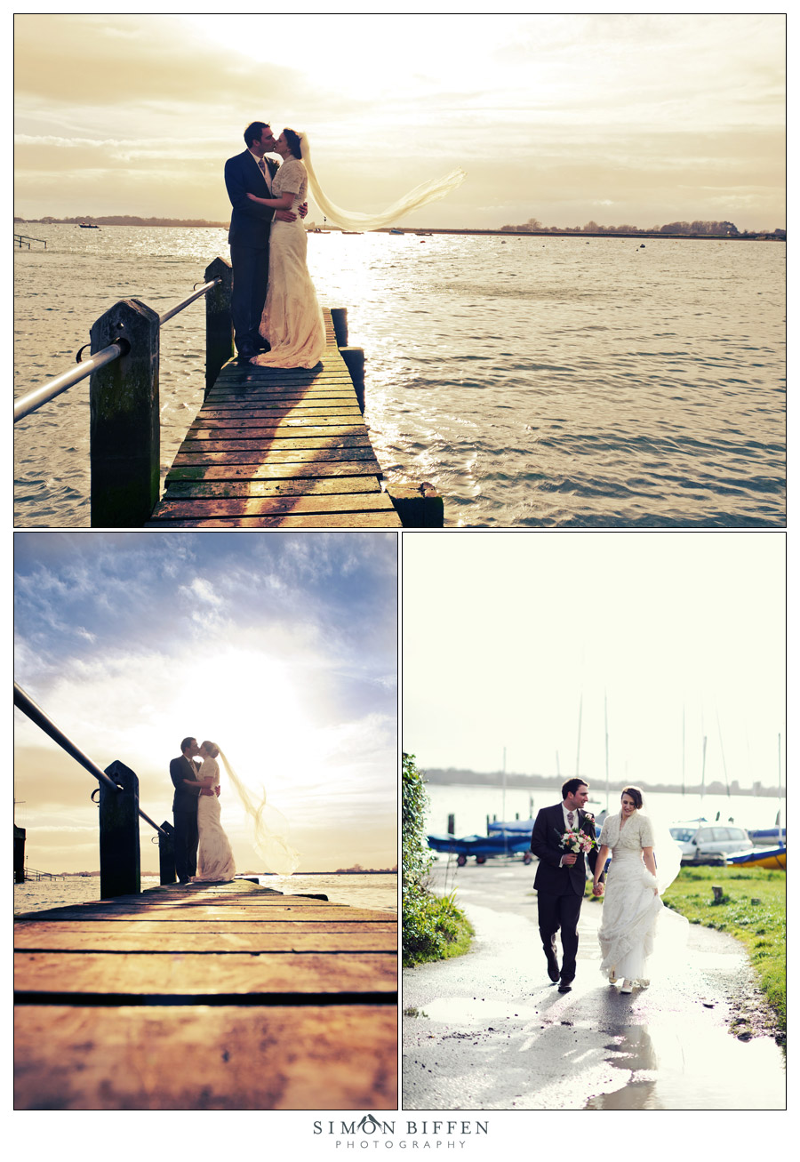 Bride and groom wedding shoot