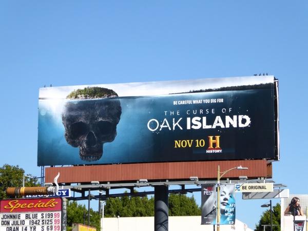 Curse of Oak Island season 3 billboard