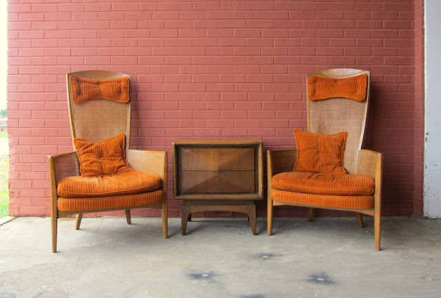 retro orange high end chairs