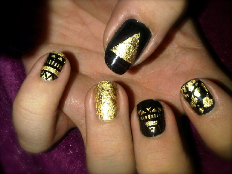 Gold Leaf Nail Art Designs: Amazing nail art designs ideas for ...