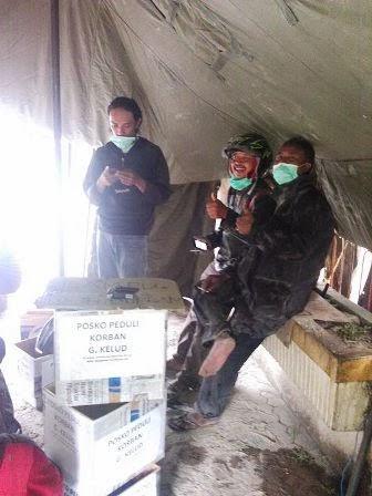 WMP Magetan Mendirikan Posko Peduli Korban Gunung Kelud