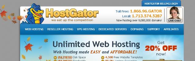 Las mejores páginas Web de alojamiento y de un nuevo dominio + Host Gator +  Solo Nuevas