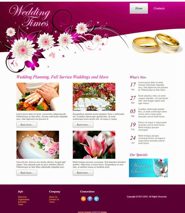 Wedding Times - Free Joomla! Template