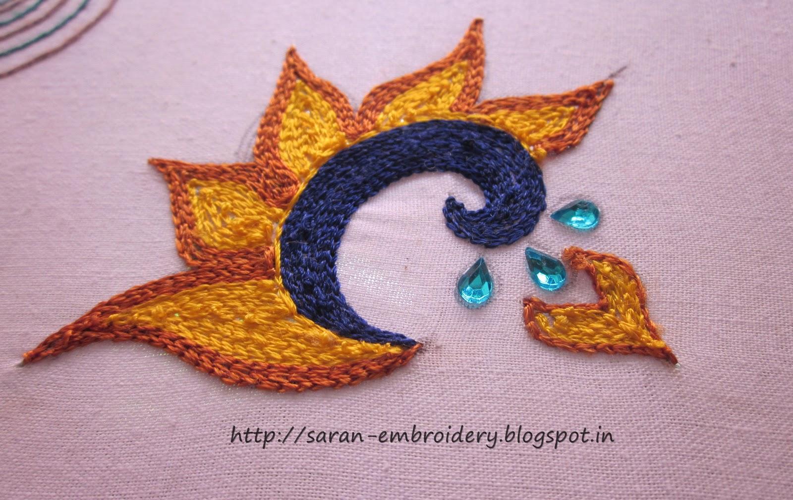 Saran embroidery design of aari