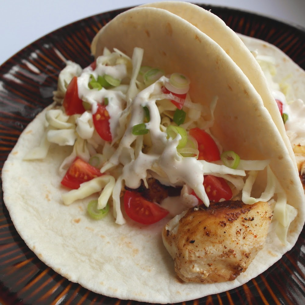 The lunchbox tree halibut tacos for Halibut fish tacos