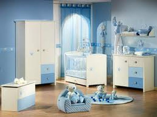Photo d coration chambre b b gar on bleu b b et for Chambre de bebe garcon