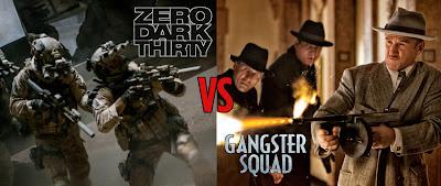 weekend movies, showtime showdown, zero dark thiry, gangster squad, mobster movie, war movie, osama bin laden movie