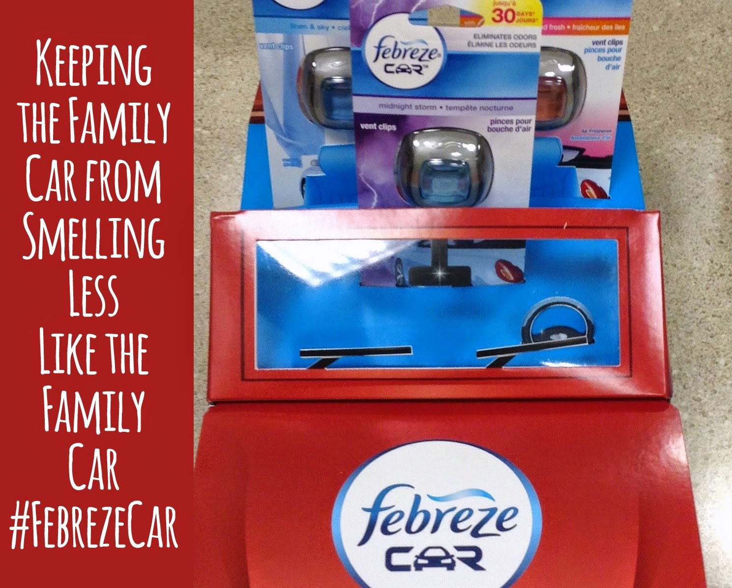Keep the Family Car Smelling #FebrezeCar Fresh + Enter to Win $25 Walmart Card