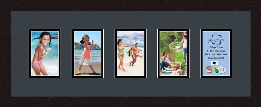 Collage Frame Photo Mat Double Mat 5 Openings