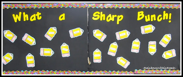 photo of: Back to School Bulletin Board with Pencil Theme