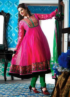 Angrakha Anarkali Dress