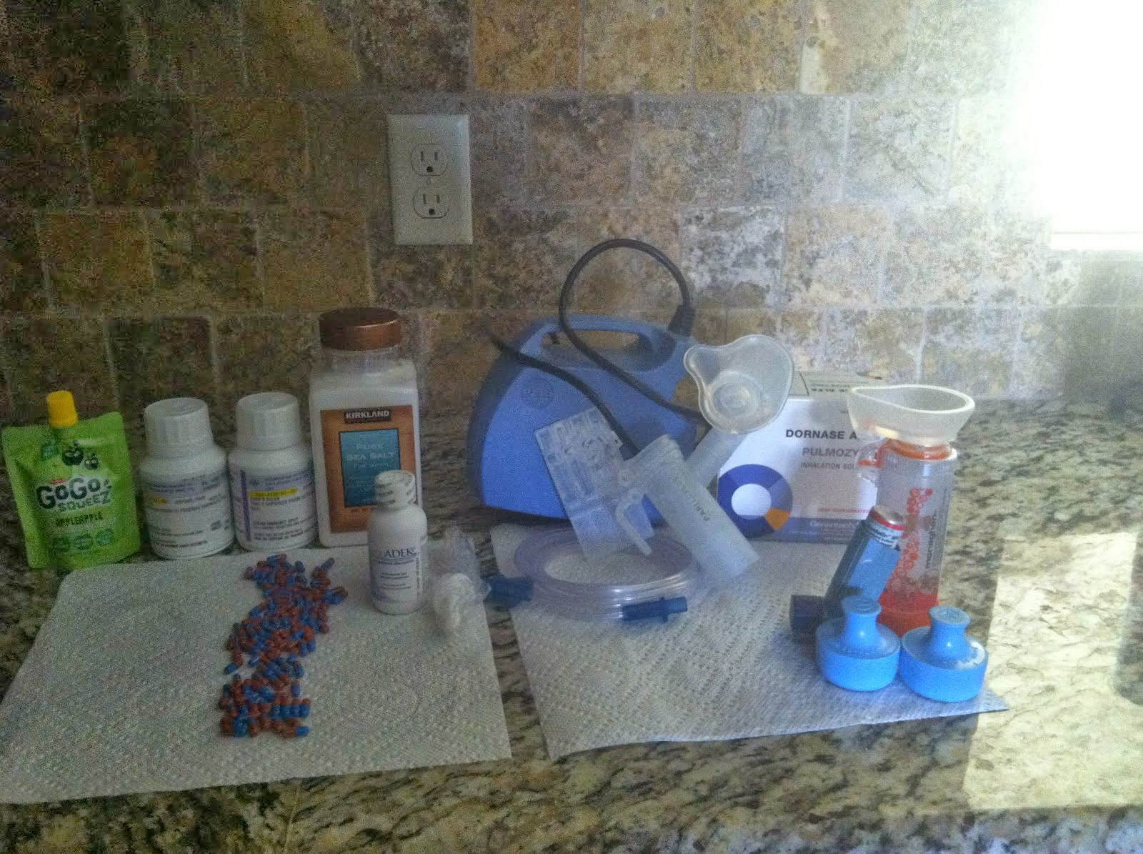 Evan's Daily Medication and Equipment