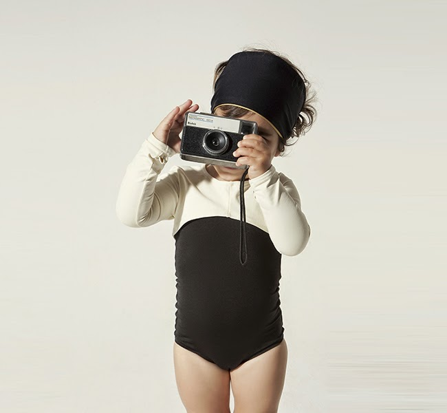 Black/white longsleeved swimsuit by Little Creative Factory spring 2014