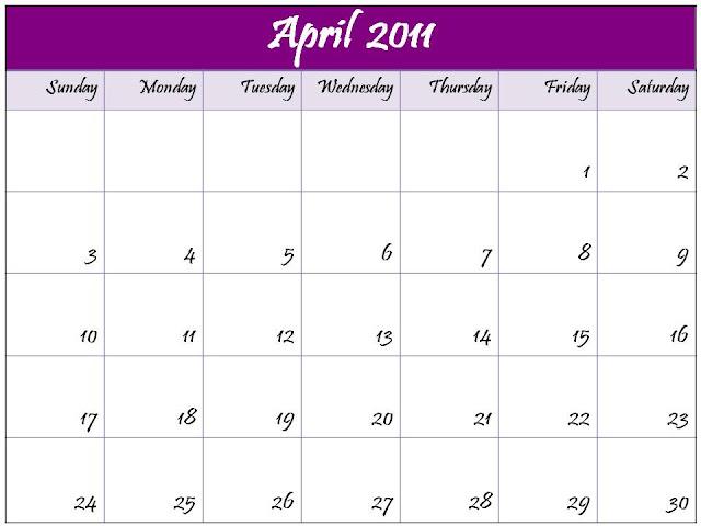 april 2012 calendar. printable april 2012 calendar