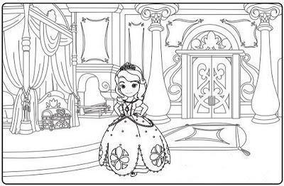 Disegno da colorare principessa Sofia
